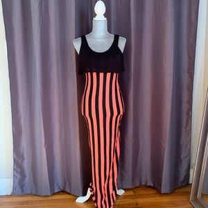 Poetry Clothing Neon Striped Maxi Dress